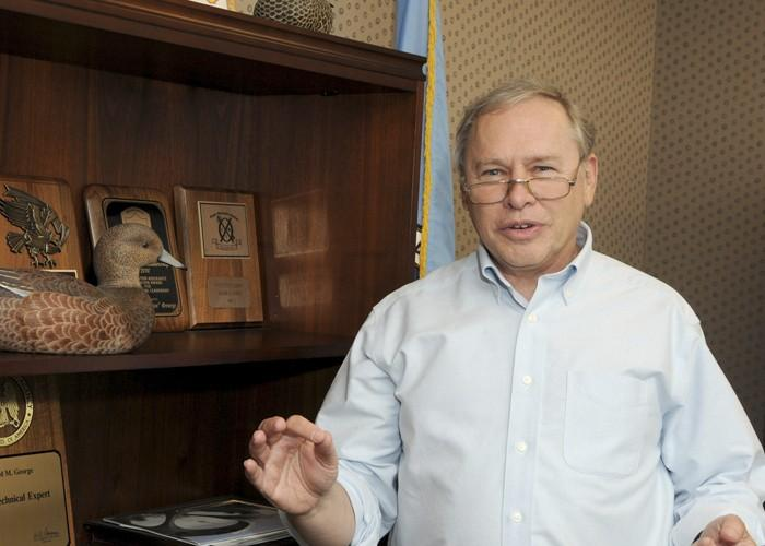 """Richard """"Dickie"""" George, technical director of NSA's Information Assurance Directorate, is pictured in his NSA office"""