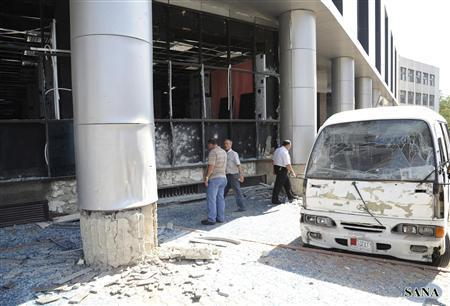Suicide bomb aftermath in Damascus