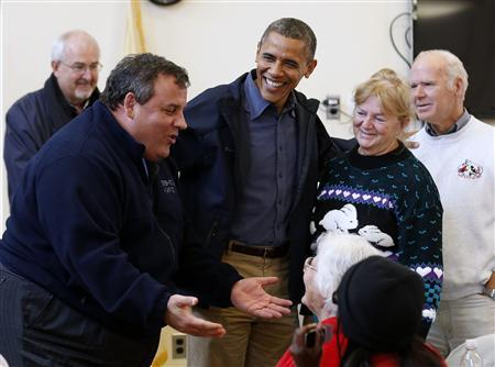 President Obama and Gov. Chris Christie