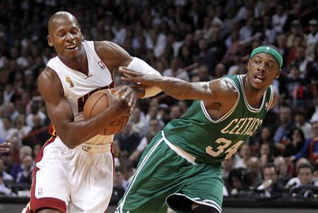 Ray Allen is averaging 15.5 points per game, since leaving the Boston Celtics and joining the Miami Heat.