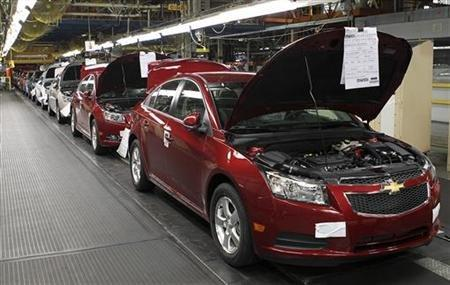 Chevrolet Cruze cars assembled