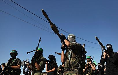 Armed Militant Hamas guards