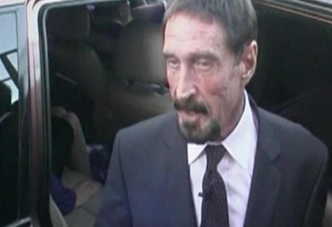 John McAfee Arrives In US