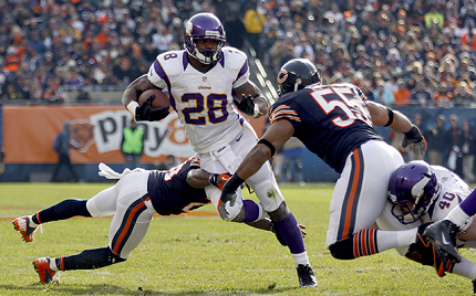 Adrian Peterson could lead the Vikings to their first postseason since 2009.