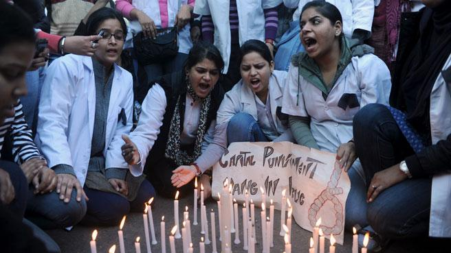 Women in India protest rape