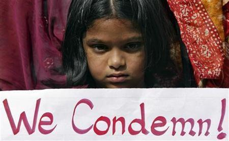 Little protester in India