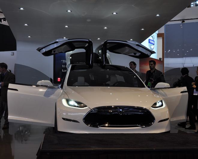 Tesla Model X prototype electric SUV