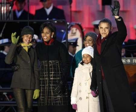 President Obama and family