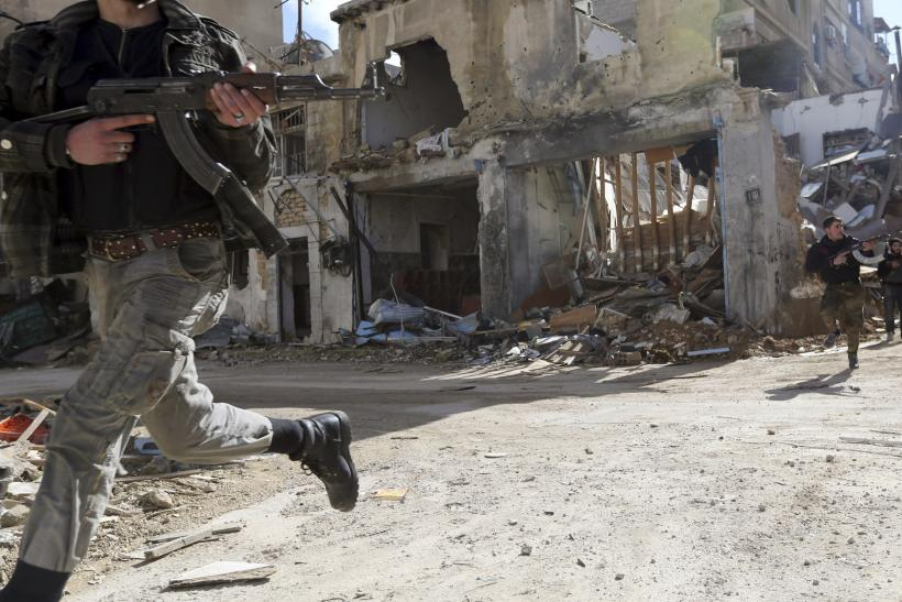Syrian Free Syrian Army fighters in Damascus