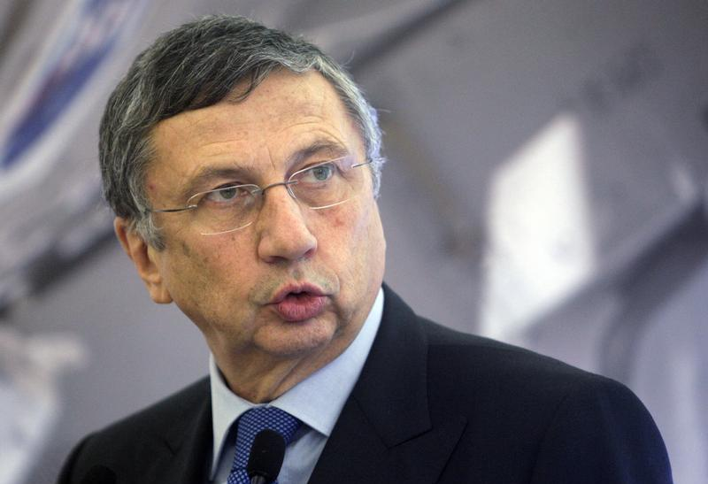 Finmeccanica Chairman and Chief Executive Officer Giuseppe Orsi attends a convention in Rome December 18, 2012.
