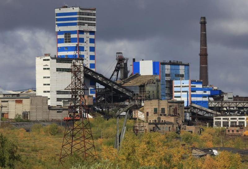 A general view of the Vorkutinskaya mine in Russia's northern Komi region is seen in this August 29, 2011 file photo.