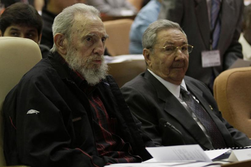 Fidel Castro and Raul Castro-Feb. 24, 2013