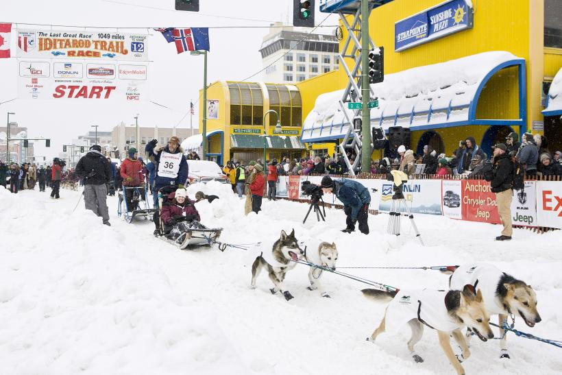Bruce Linton, a competitor in the 40th Iditarod