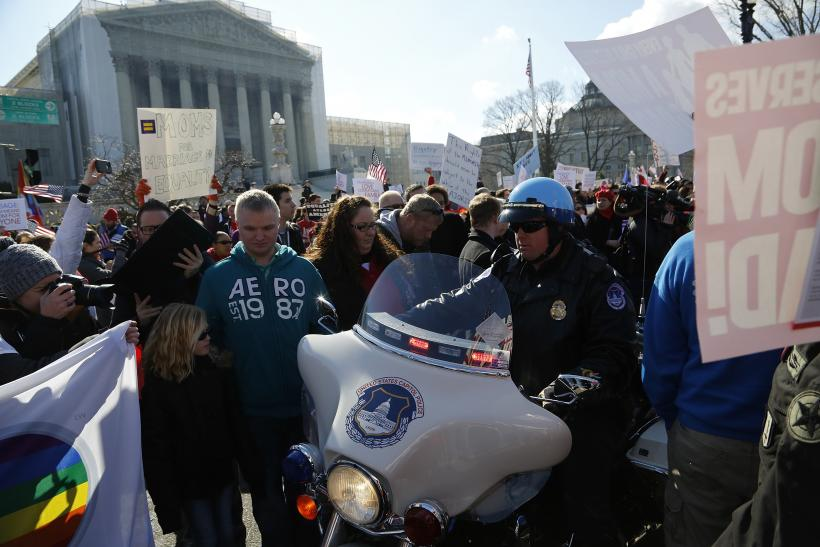 Supreme Court gay marriage 26March2013 police