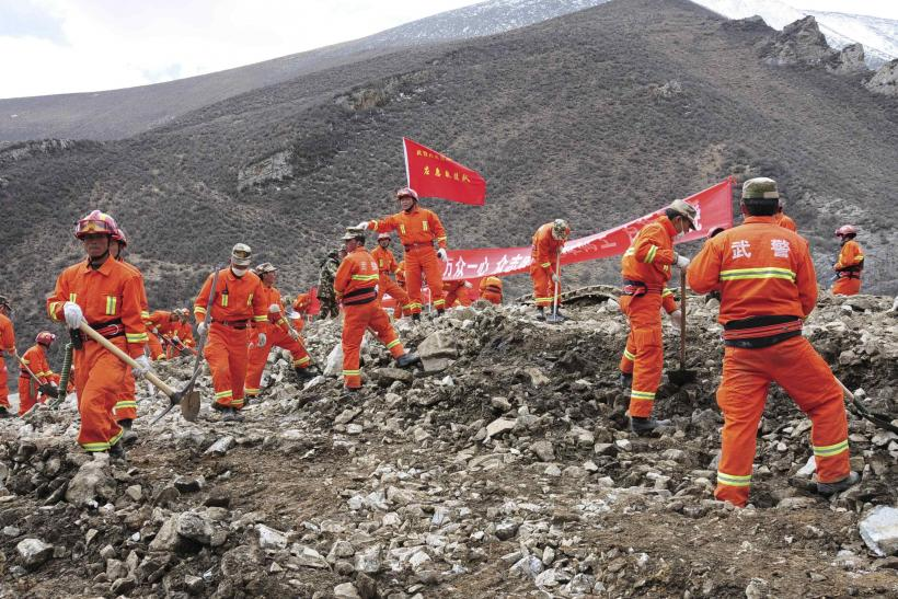 Rescuers search for survivors