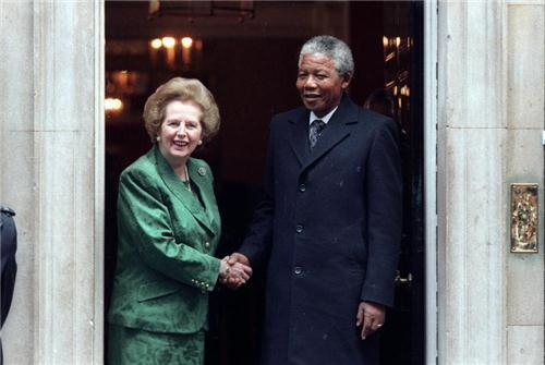 Thatcher and Mandela 1990