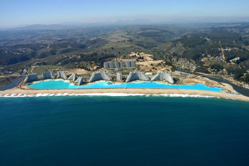 Crystal Lagoon at San Alfonso del Mar Resort in Algarrobo, Chile