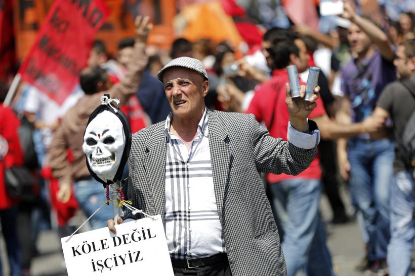 May Day Istanbul protester