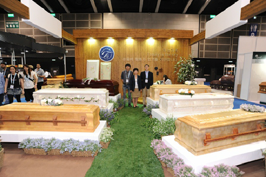 Hong Kong Expo Displays New Funeral Trends Including
