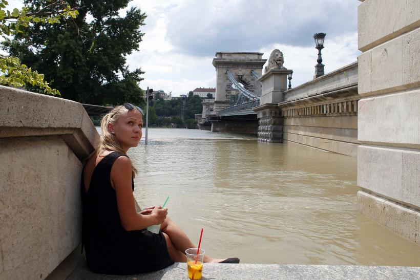 Flooding Europe Danube Woman
