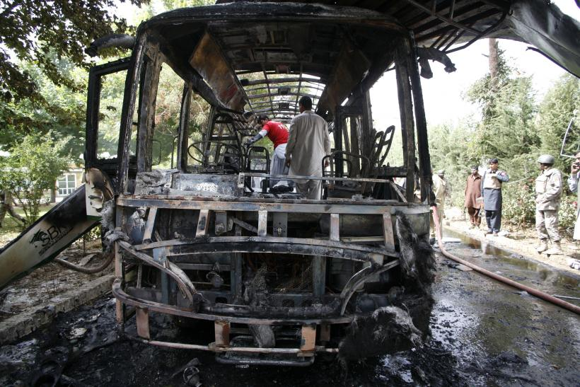 Blown out bus in Pakistan, Quetta
