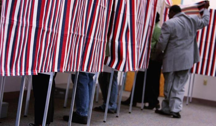 Voting US lines NH Getty Images