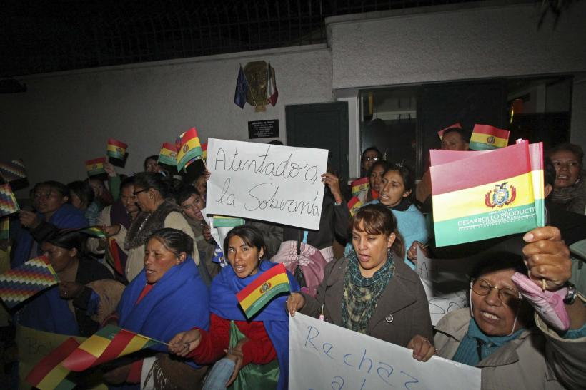 Bolivian protesters