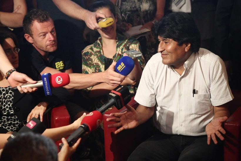 Evo Morales in Vienna airport
