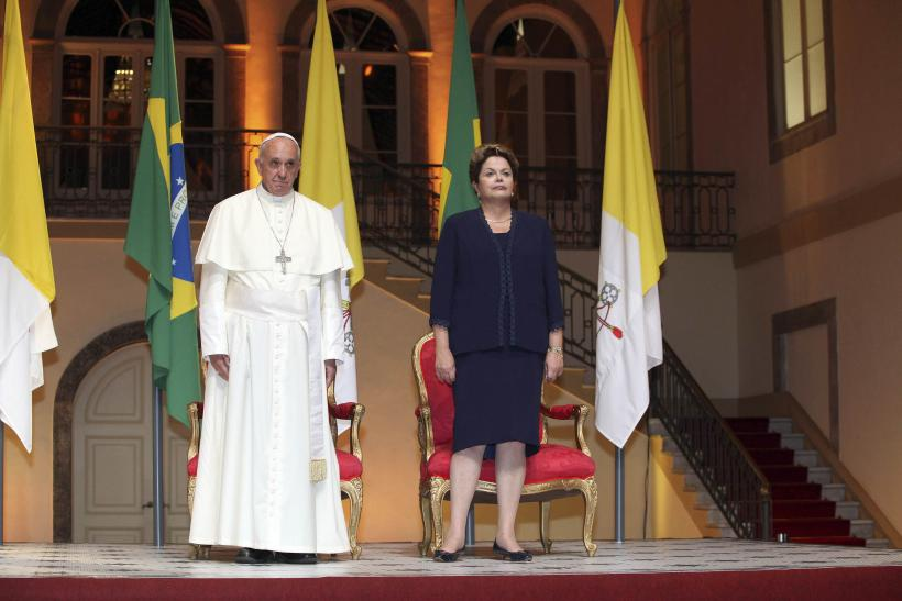 Pope Francis and Dilma Rousseff