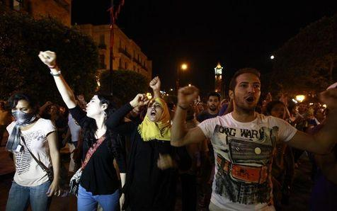 In Tunisia, People Protest