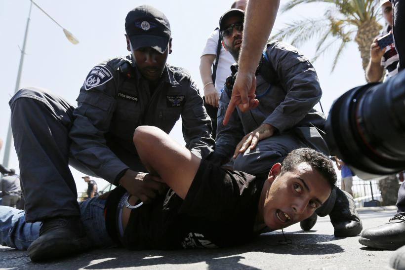 Bedouin protester