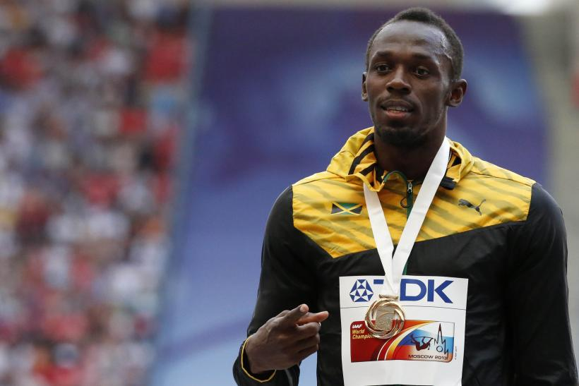 Usain Bolt Jamaica 4x100meters Moscow 2013