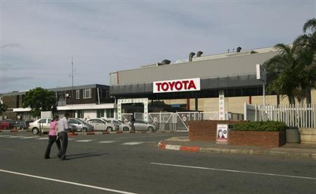 Toyota car factory in Durban South Africa
