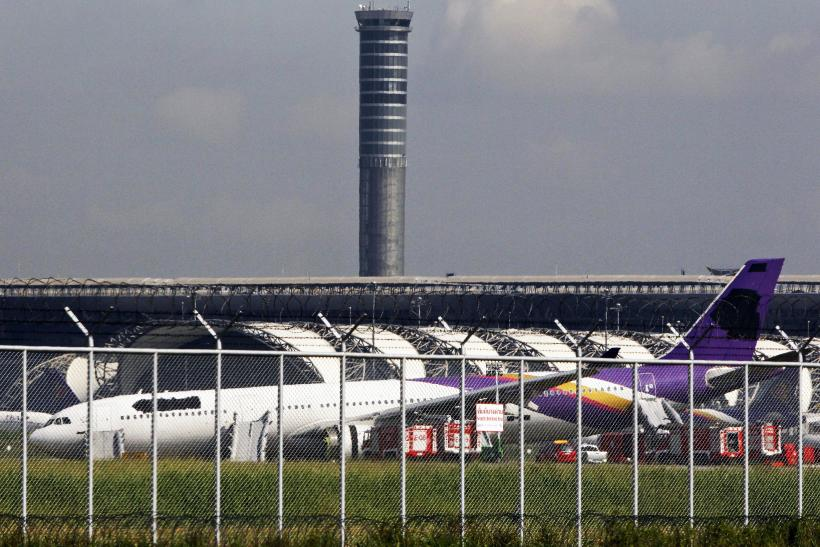 Thai Airways Logos Covered Up