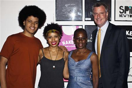 Bill de Blasio and family