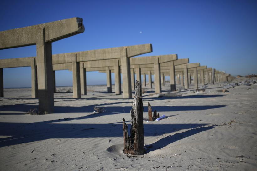 Rockaway Beach Boardwalk one year after Hurricane Sandy.
