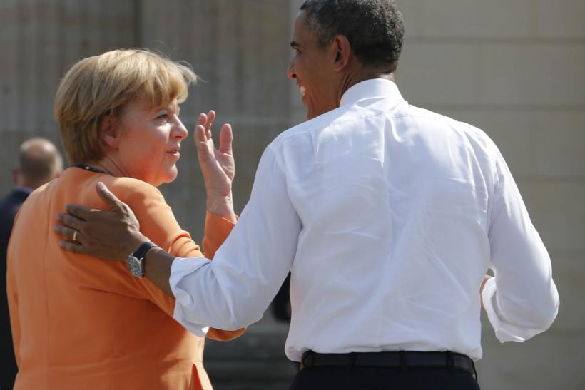 Angela Merkel and Barack Obama
