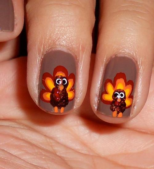 DIY Nail Art Thanksgiving 2013: Festive Designs For Your Nails On