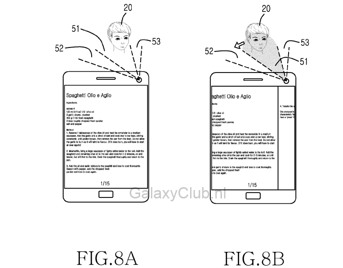 Samsung Head Tracking Gesture Controls Patent