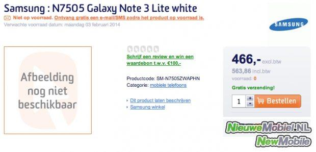 Galaxy Note 3 Neo listing