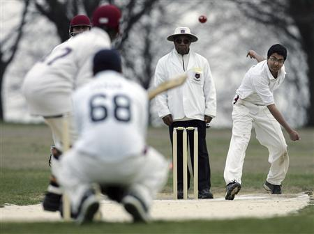 Playing cricket in New York City