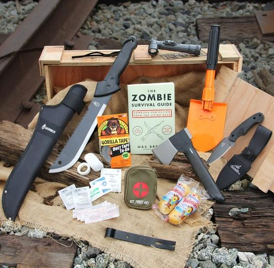 Man Cave Zombie Survival Kit : Valentine s day gift ideas zombie survival kit from