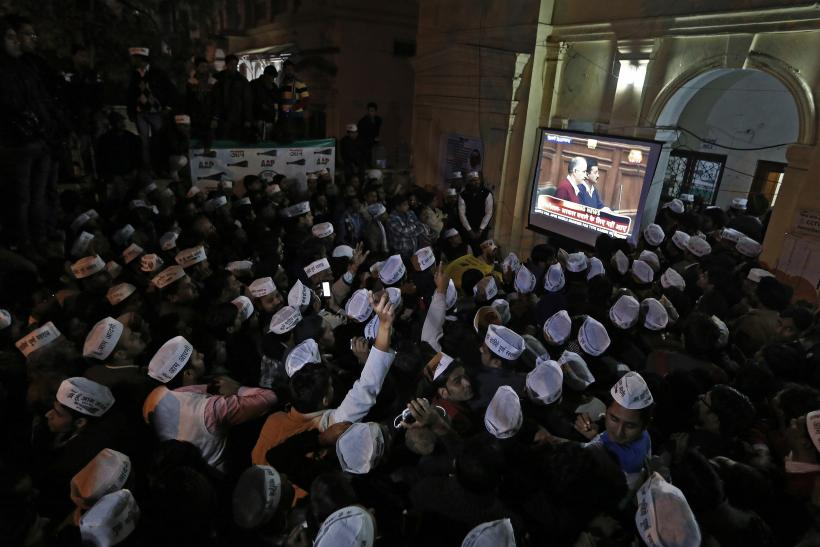 Kejriwal's supporters