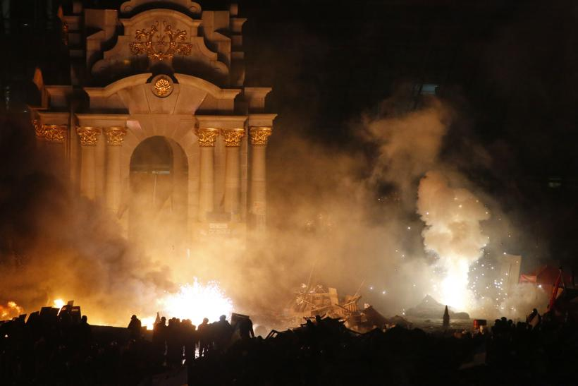 independence square ablaze