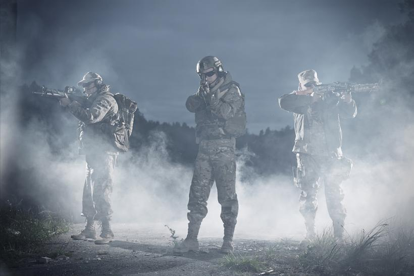 NATO soldiers by Shutterstock