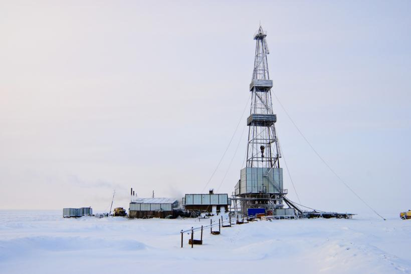 Russia Siberia oil rig by Shutterstock