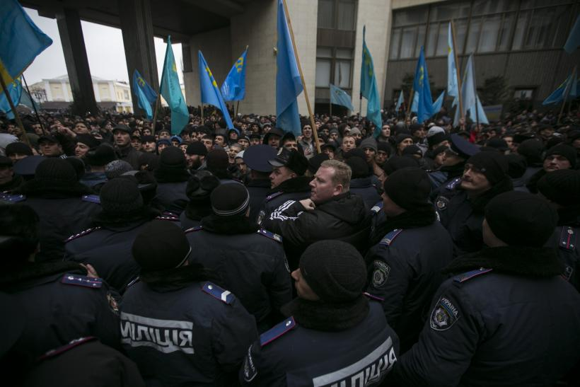 Crimea protest site