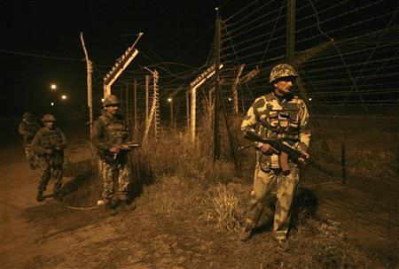 Indian soldiers in Kashmir
