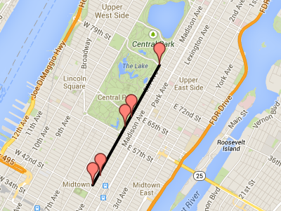 NYC St. Patrick's Day Parade 2014 Route Map