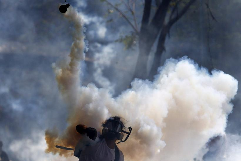 Venezuela Protesters Gas Canister March 12